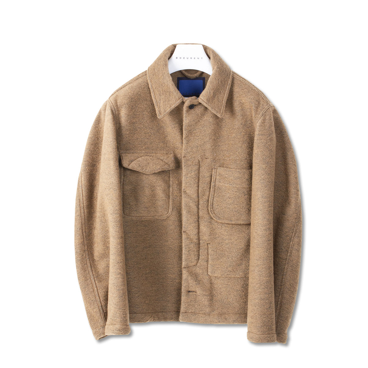 [DOCUMENT] WOOL FIELD SHIRTING JACKET