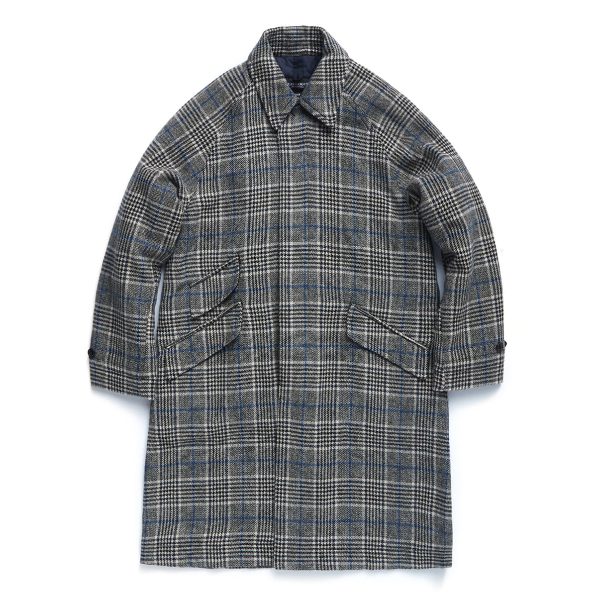 [EASTLOGUE] BALMACAAN COAT 'BEIGE/BLUE CHECK'