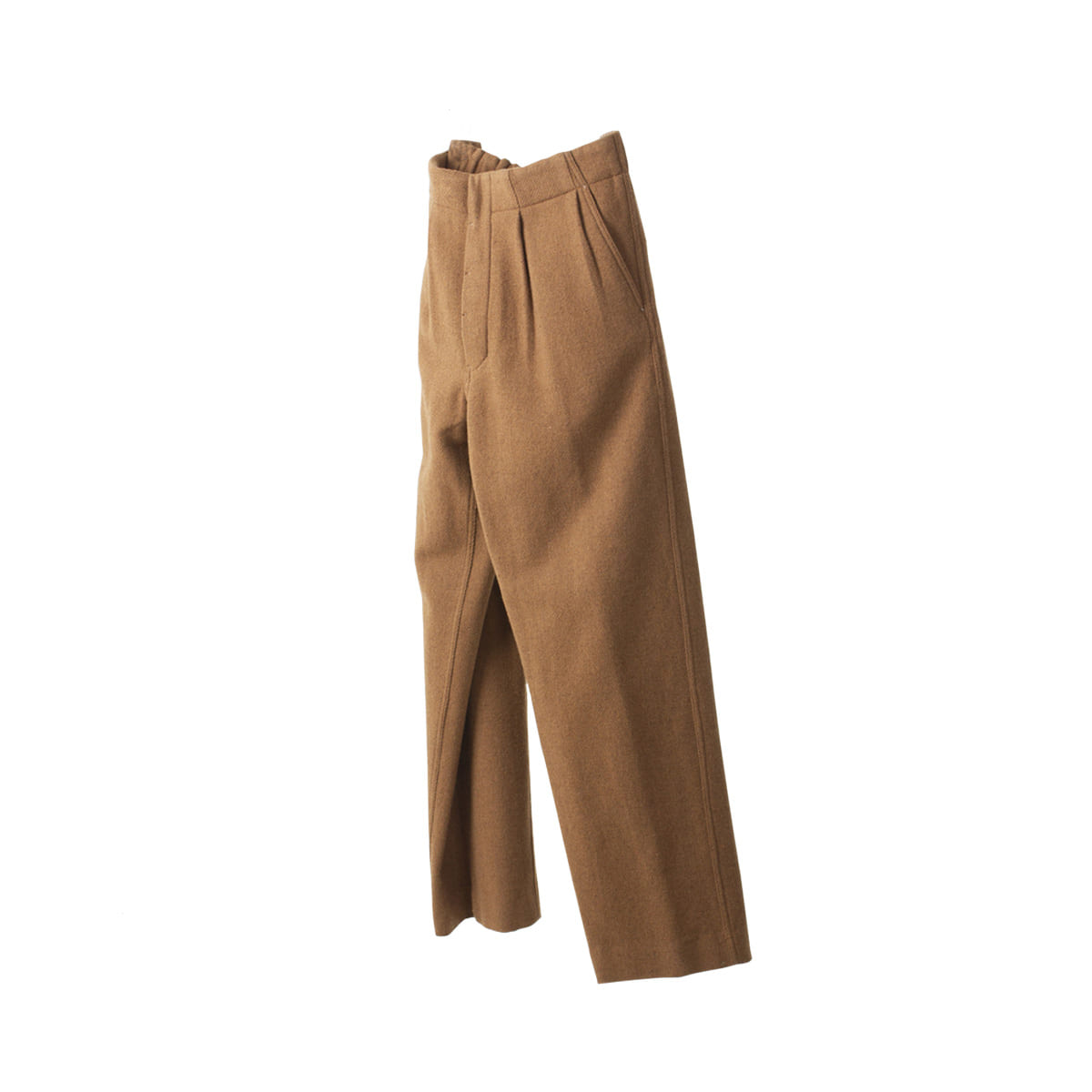 [DOCUMENT]WOOL WIDE TUCKED TROUSERS
