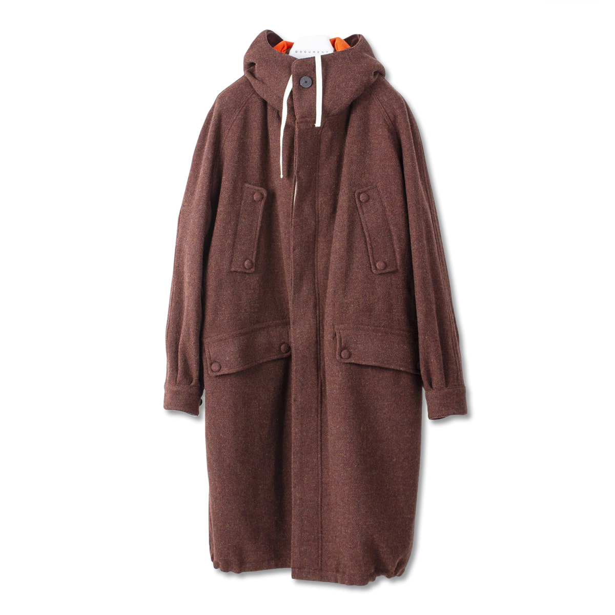 [DOCUMENT] THE DOCUMENT WOOL PARKA 'BROWN'