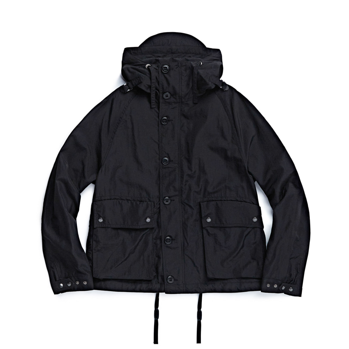 [EASTLOGUE] FOUL WEATHER PARKA 'BLACK NYLON WASHER'