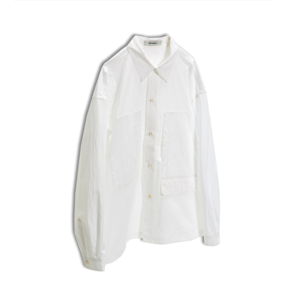 [ENIGMA] CROPPED REGULAR SHIRT 'WHITE'