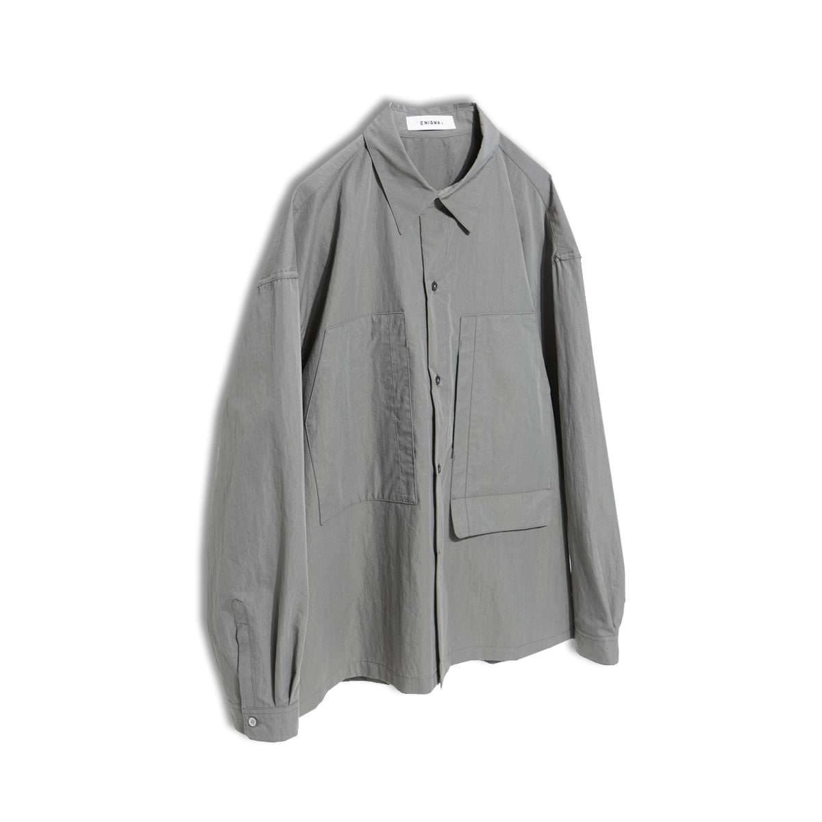 [ENIGMA] CROPPED REGULAR SHIRT 'GREY'