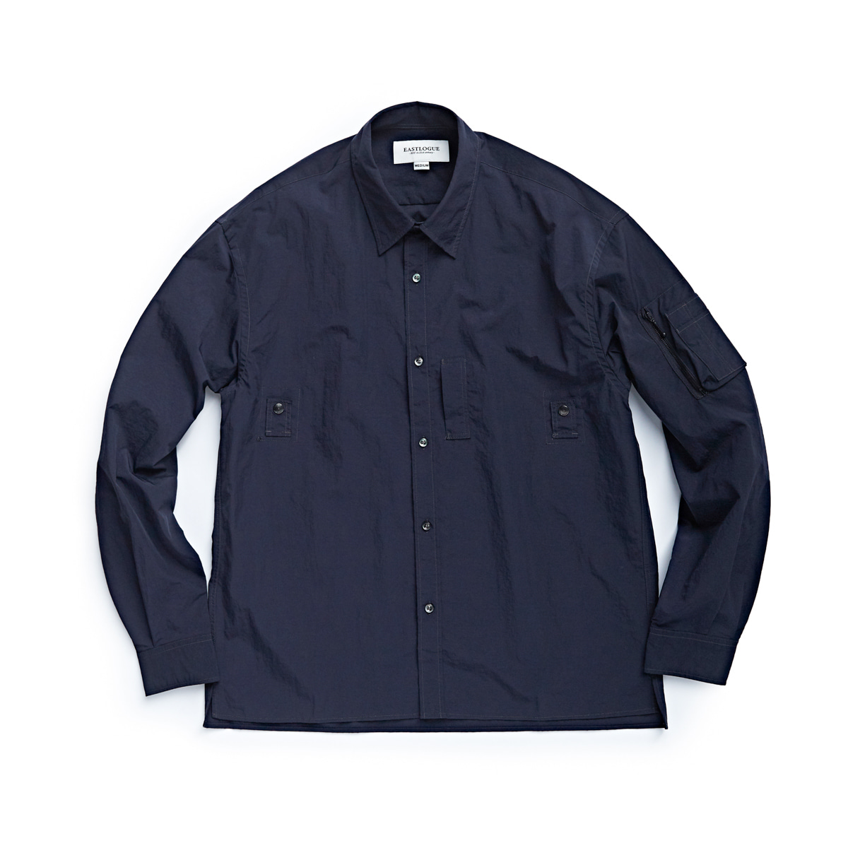 [EASTLOGUE] MA-1 SHIRT 'NAVY NYLON WASHER'