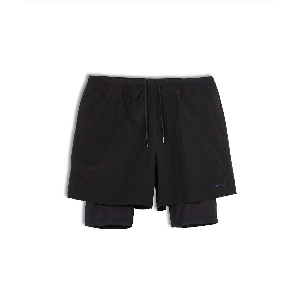 [ENIGMA] LAYERED SWIM SHORTS 'BLACK/NAVY'
