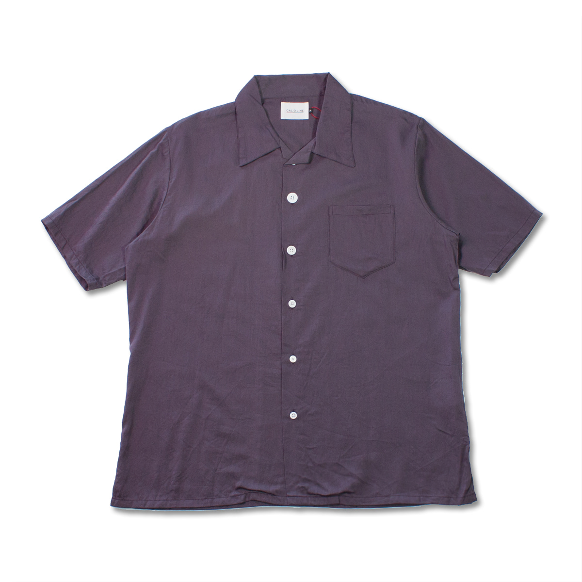 [CAL O LINE] OPEN COLLAR S/S SHIRT 'PURPLE'
