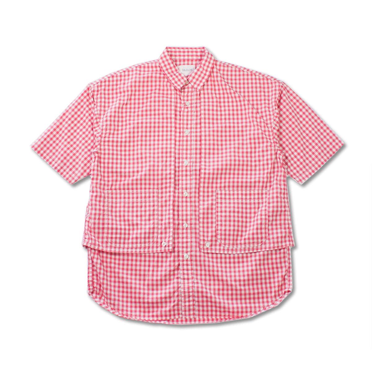 [CAL O LINE] GINGHAM PAINTER S/S SHIRT 'PINK'