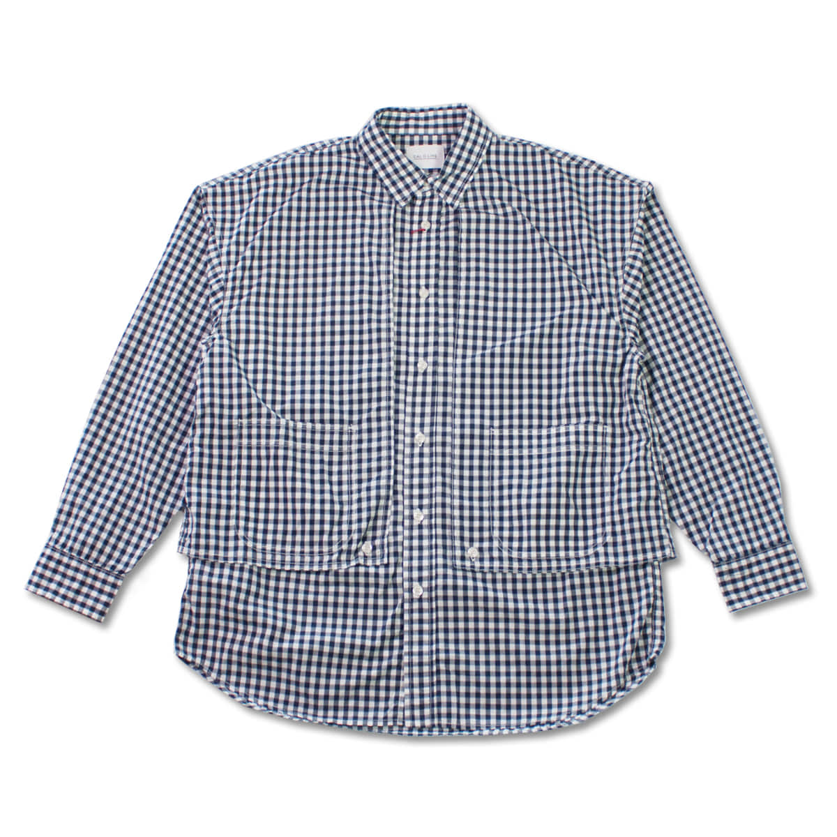 [CAL O LINE] GINGHAM PAINTER SHIRT 'NAVY'