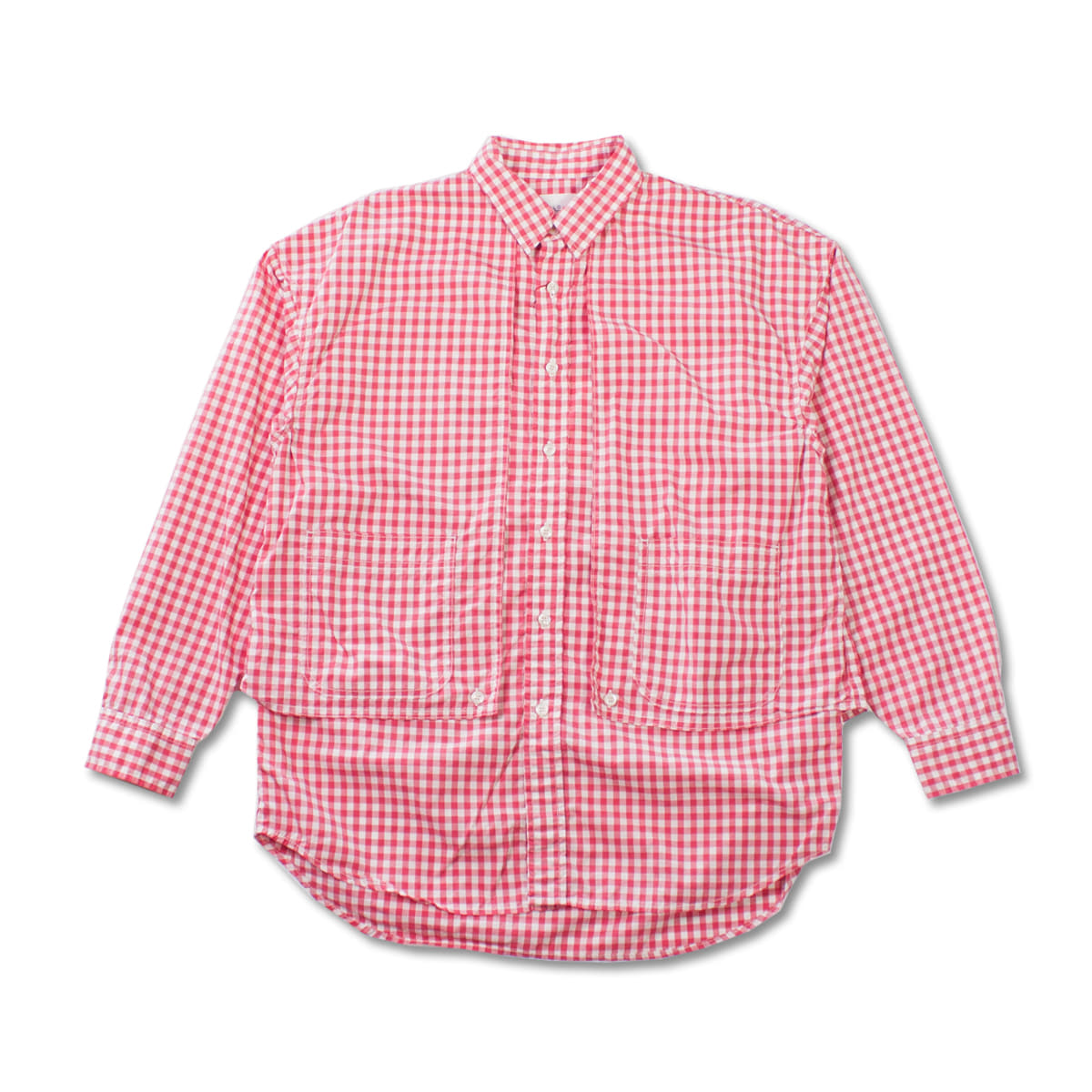[CAL O LINE] GINGHAM PAINTER SHIRT 'PINK'
