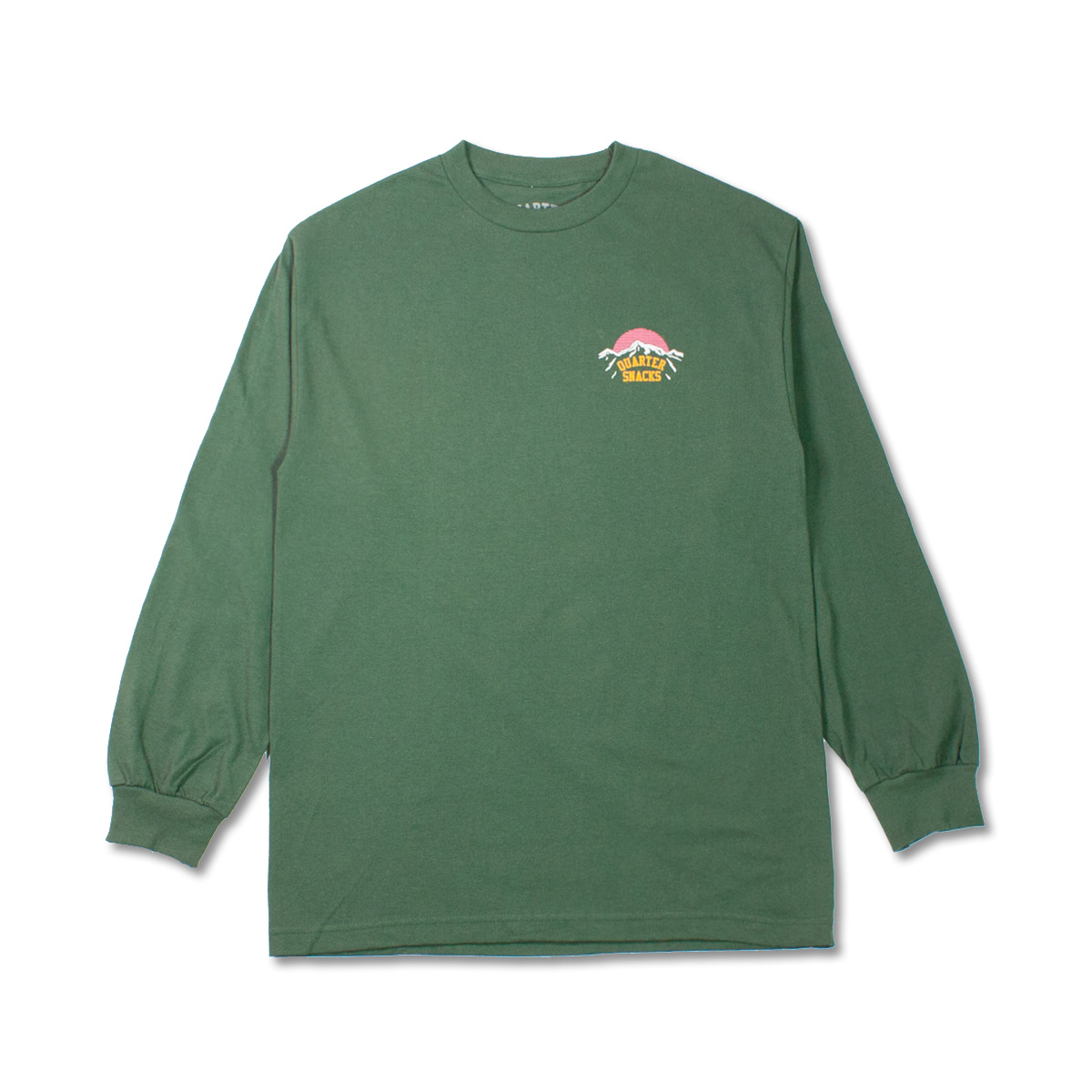 [QUARTERSNACKS] MOUNTAIN LONG SLEEVE 'FOREST GREEN'