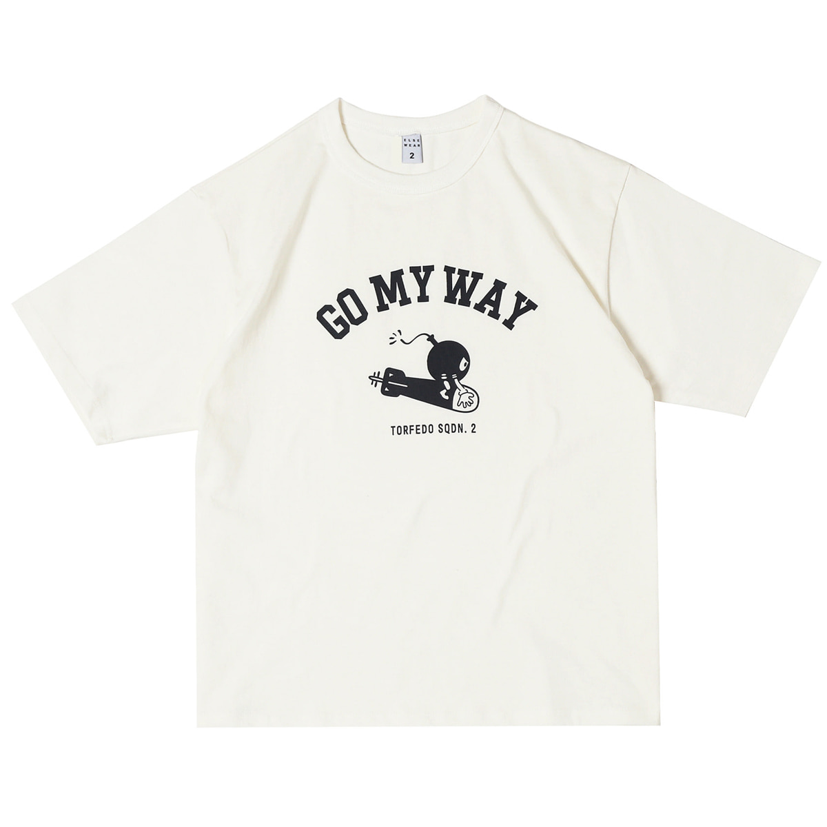 [ELSEWEAR]  USAAF GO MY WAY OVERSIZED S/S TEE 'WHITE'