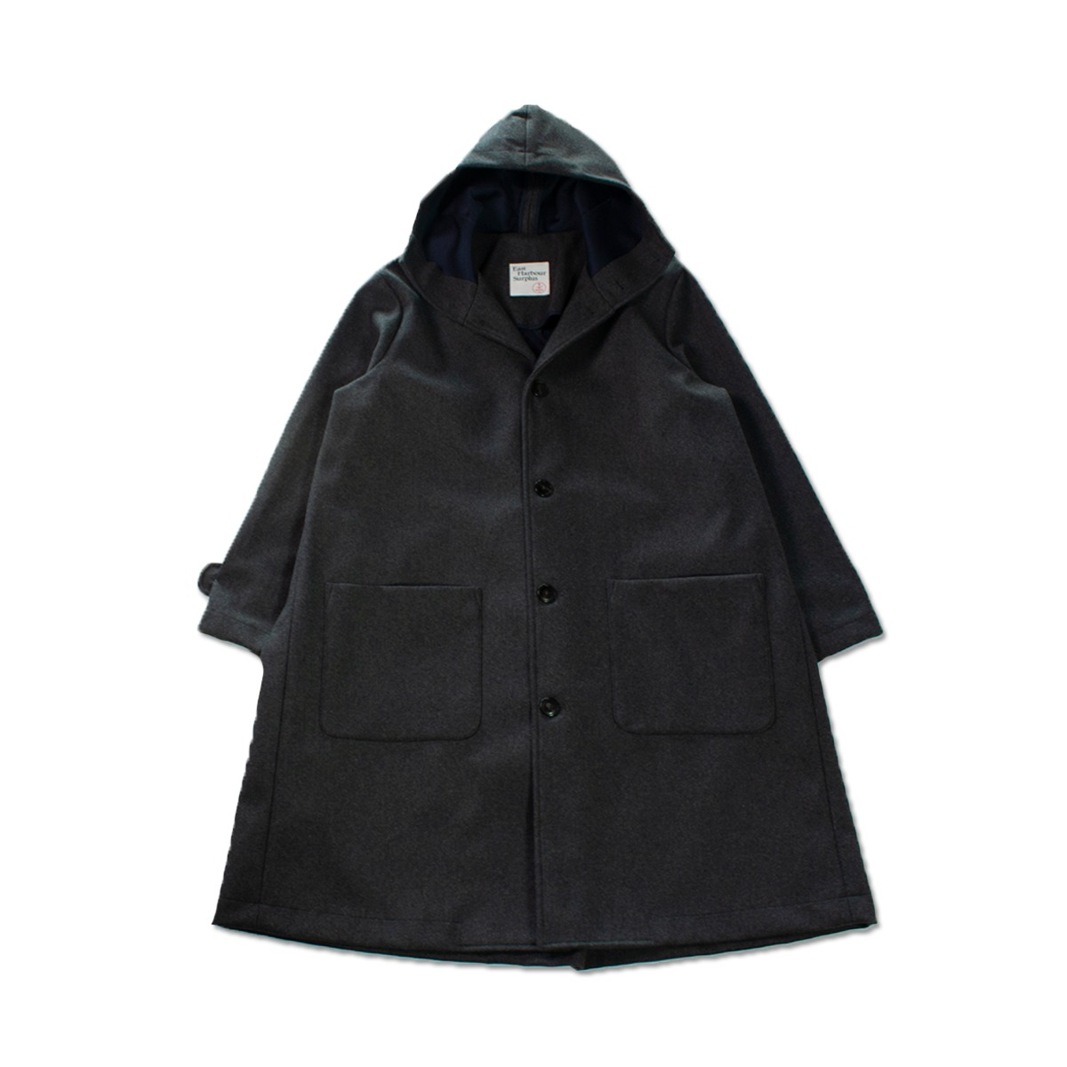[EAST HARBOUR SURPLUS] ARAN WOOL COAT 'GREY'
