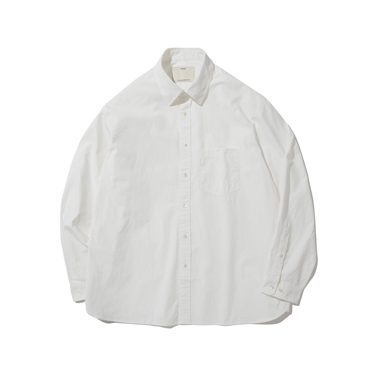 [POTTERY] COMFORT SHIRT 'WHITE'