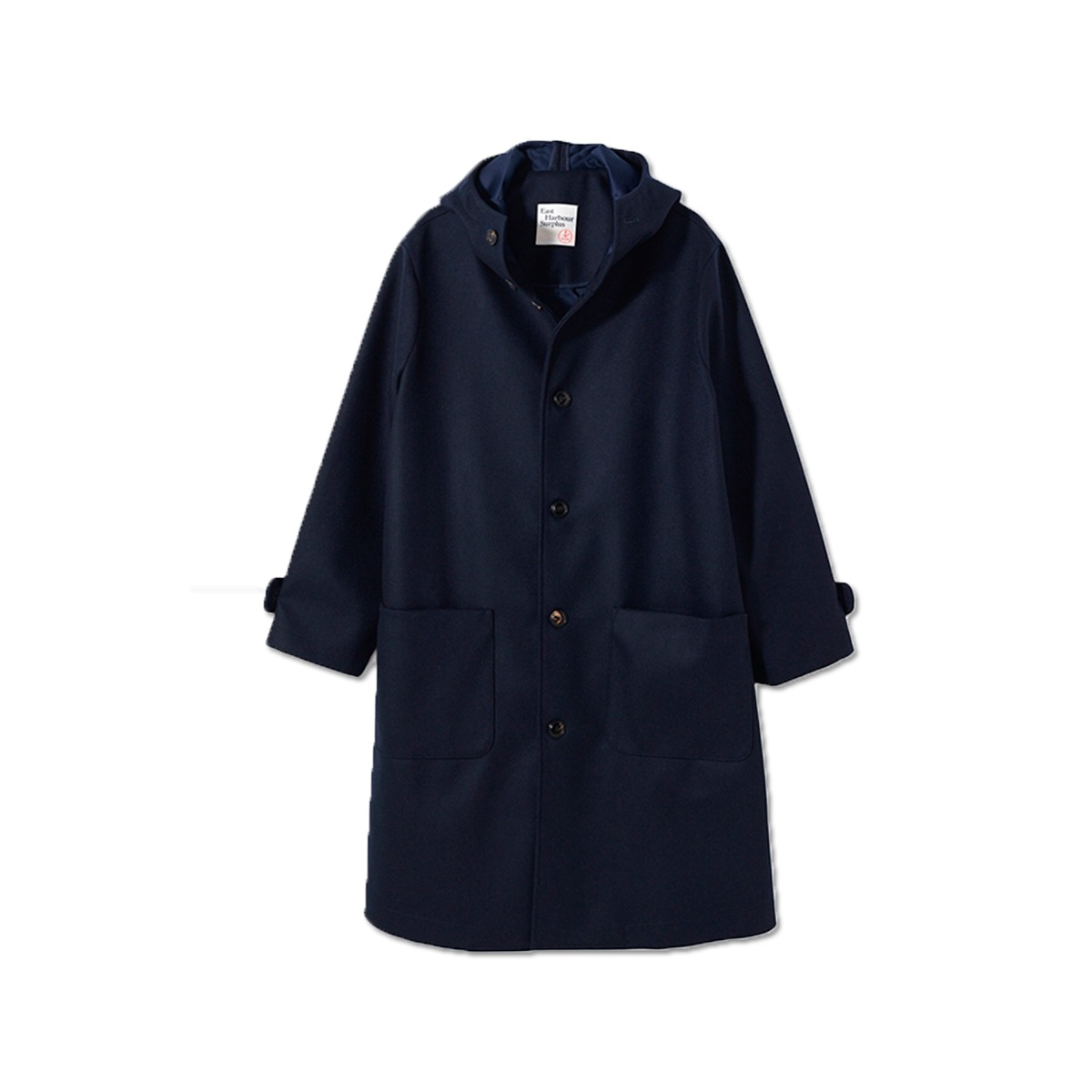 [EAST HARBOUR SURPLUS] ARAN WOOL COAT 'NAVY'