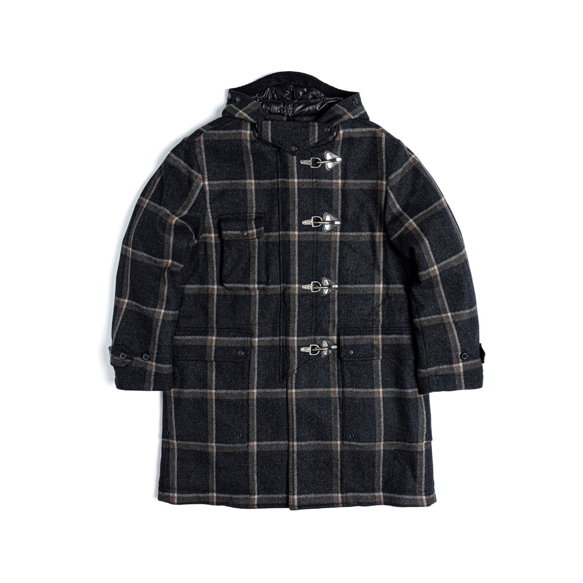 [EASTLOGUE] FIREMAN COAT 'BLACK WINDOWPANE'