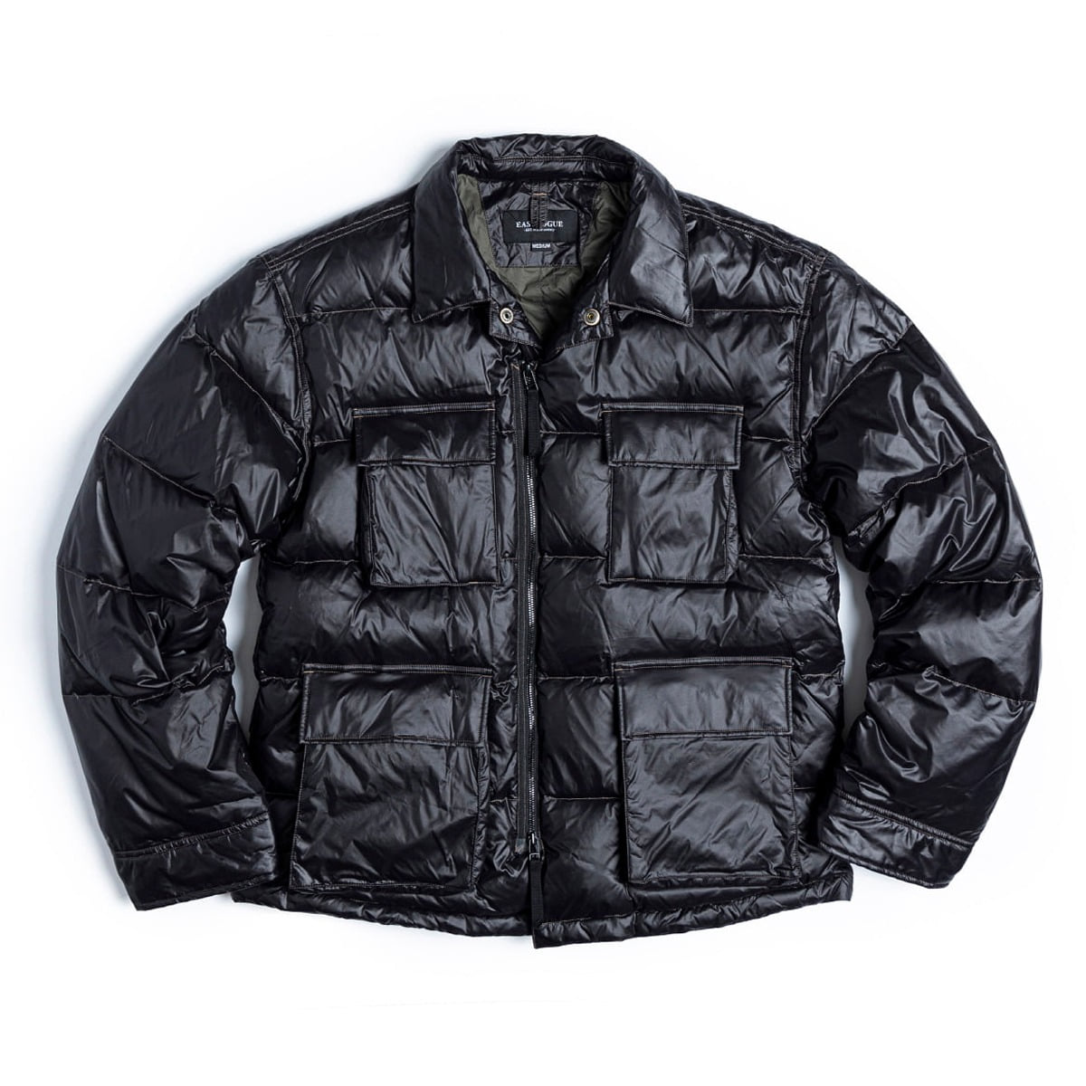 [EASTLOGUE] BDU DOWN JACKET 'BLACK NYLON'