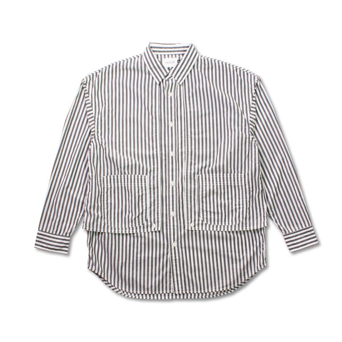 [CAL O LINE] STRIPE PAINTER SHIRT 'BLACK'