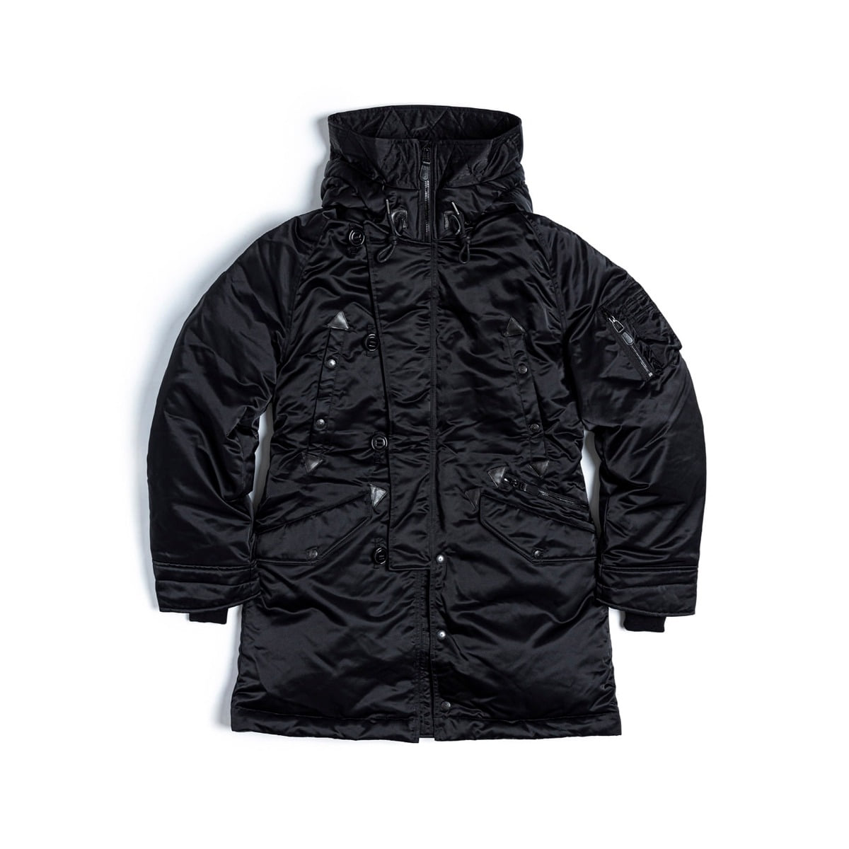 [EASTLOGUE] N-3B LONG DOWN PARKA 'BLACK NYLON TWILL'