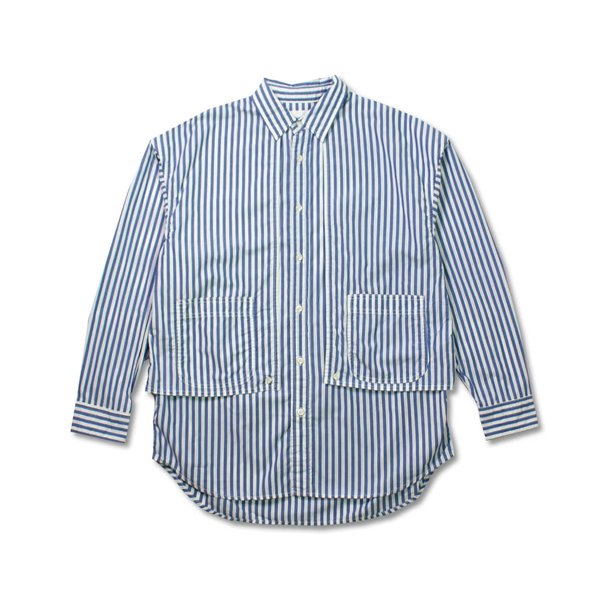 [CAL O LINE] STRIPE PAINTER SHIRT 'BLUE'