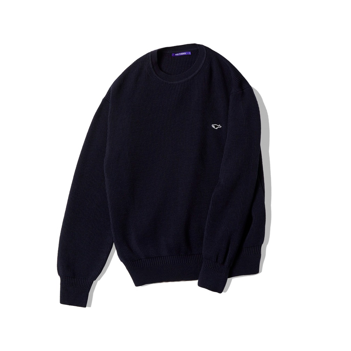 [NEITHERS] D5002-2 KNITTED SWEAT SHIRT 'NAVY'