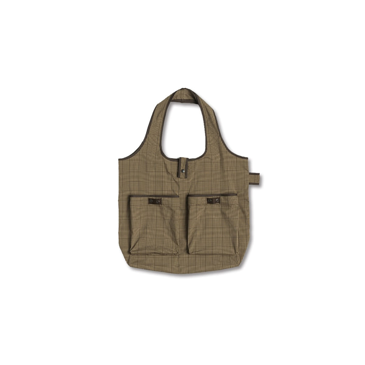 [EASTLOGUE] WAGON BAG 'BEIGE & BLACK CHECK'