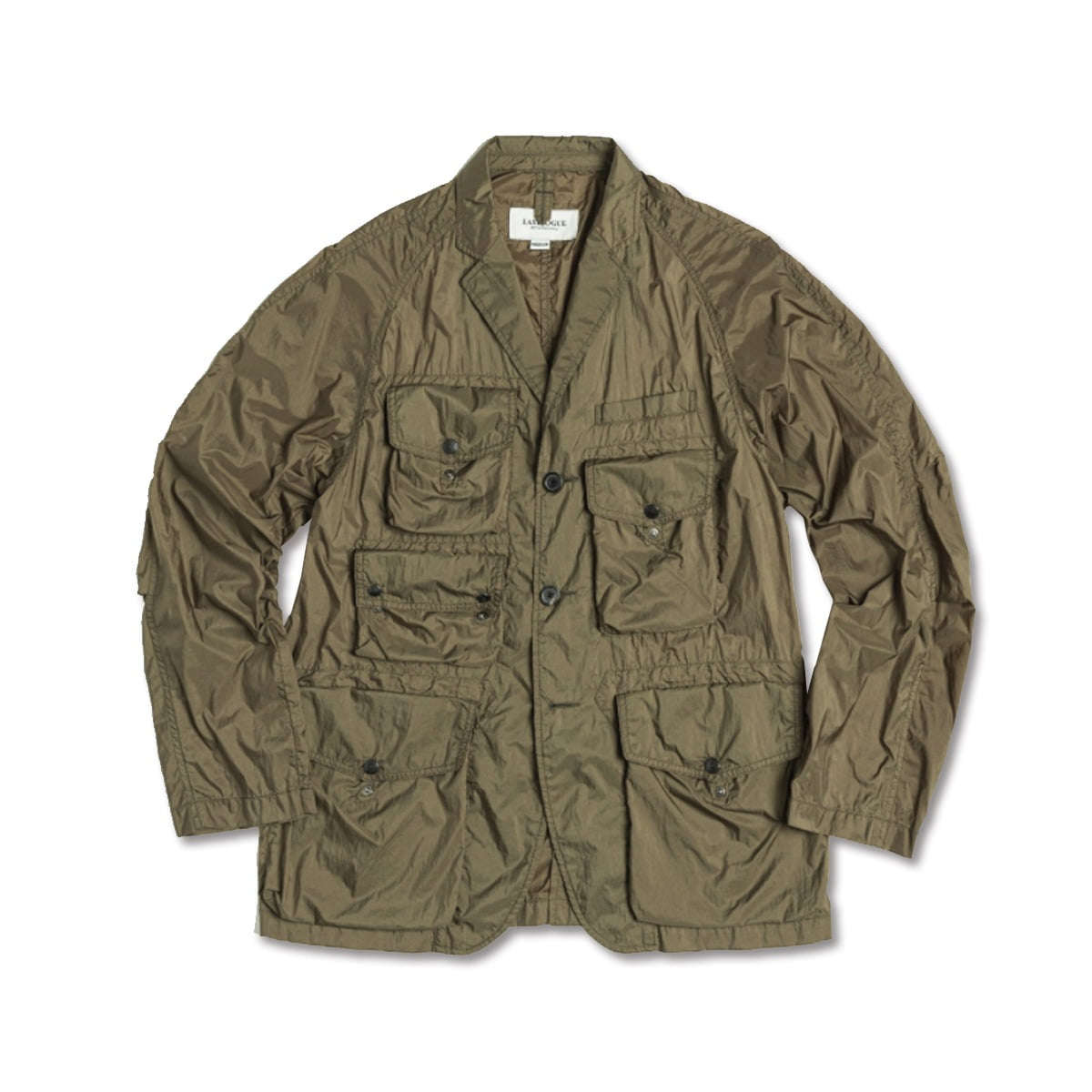 [EASTLOGUE] TREKKING JACKET 'OLIVE NYLON RIPSTOP'