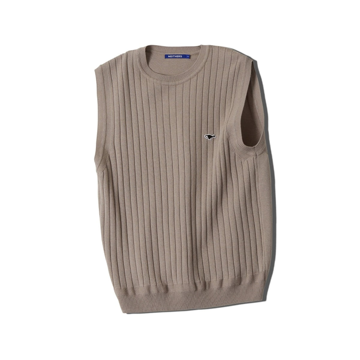 [NEITHERS] KNITTED VEST 'BEIGE'