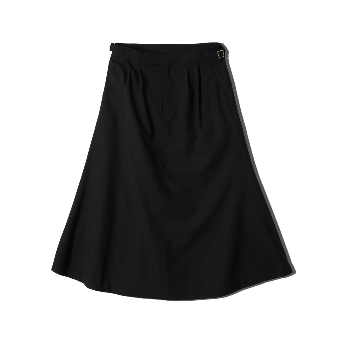 [NEITHERS] WOOL 4 WRINKLED WIDE SKIRT 'NAVY'
