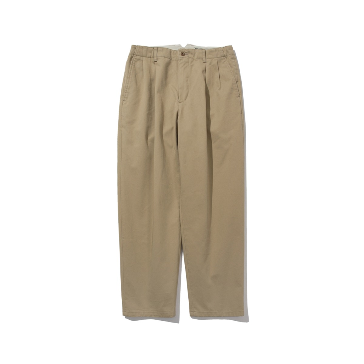 [POTTERY] TWO PLEATED WIDE CHINO PANTS 'CHINO BEIGE'