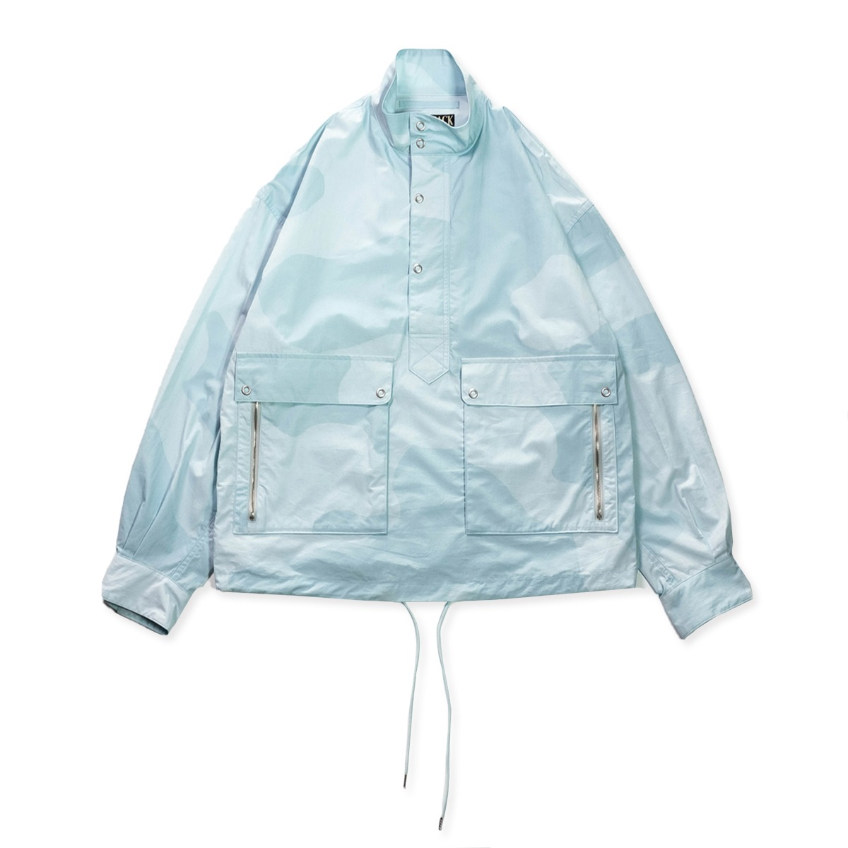 [HAVERSACK] CLOUD CAMO PULLOVER STAND COLLAR BLOUSON 'BLUE CAMOFLAGE'