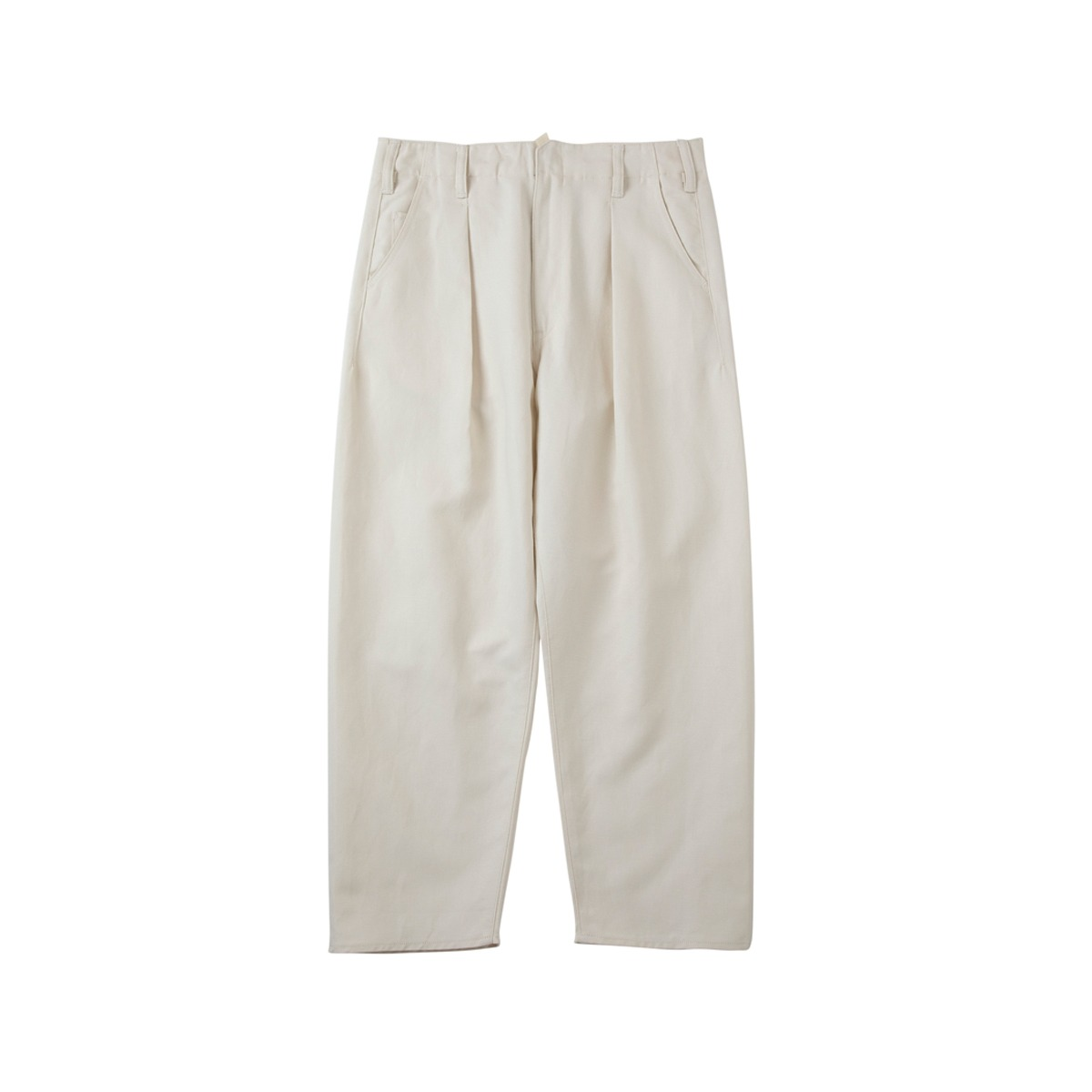 [SABY] BIG PANTS - WHITE LINEN 'ECRU'