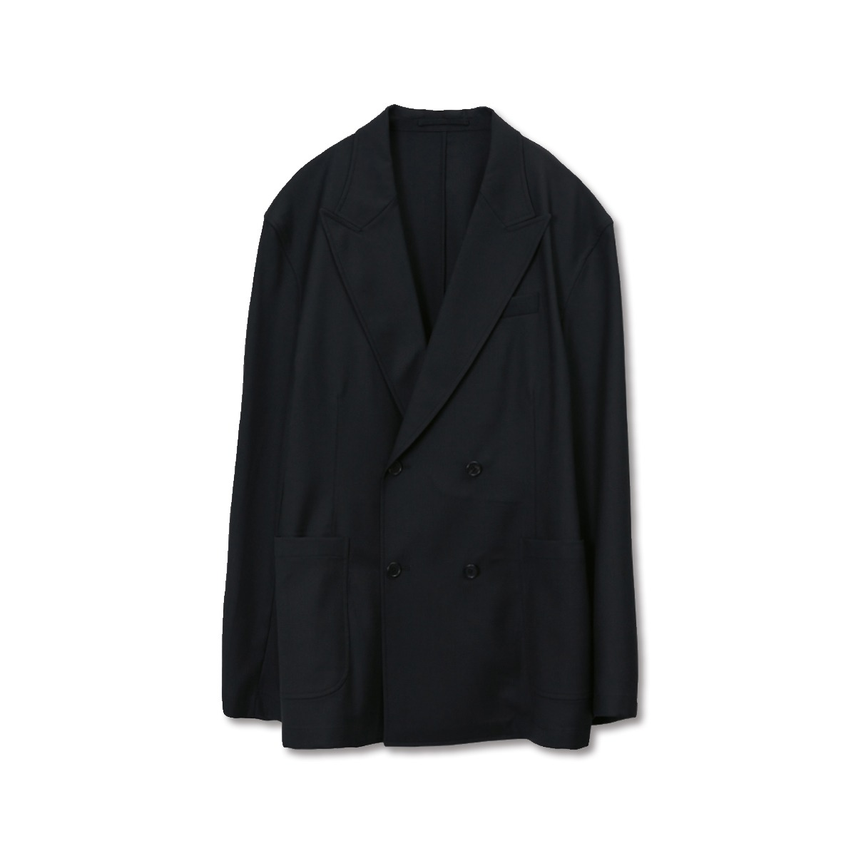 [BROWNYARD] DOUBLE BREASTED JACKET 'BLACK'