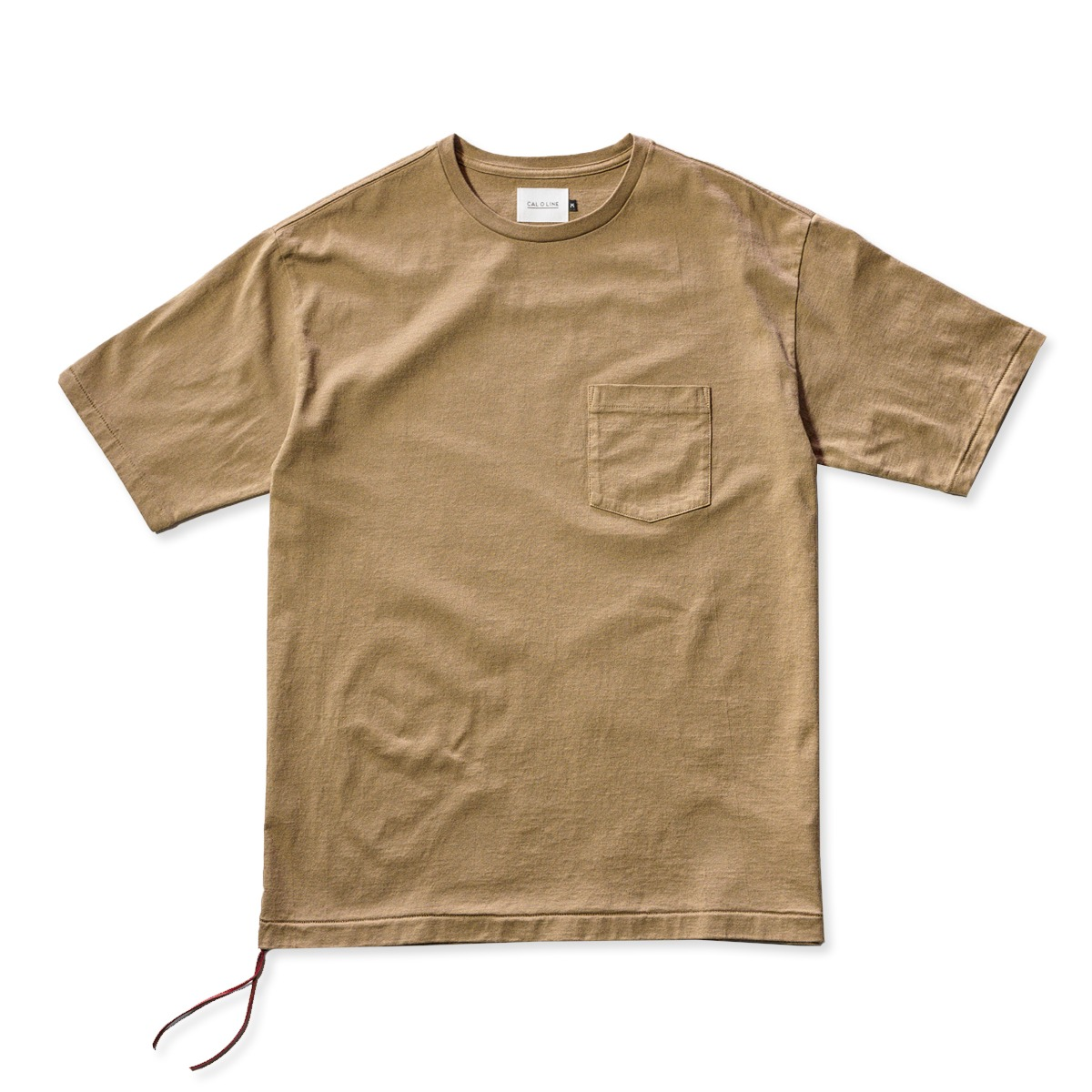 [CAL O LINE] SOLID COLOR POCKET S/S TEE 'COYOTE'