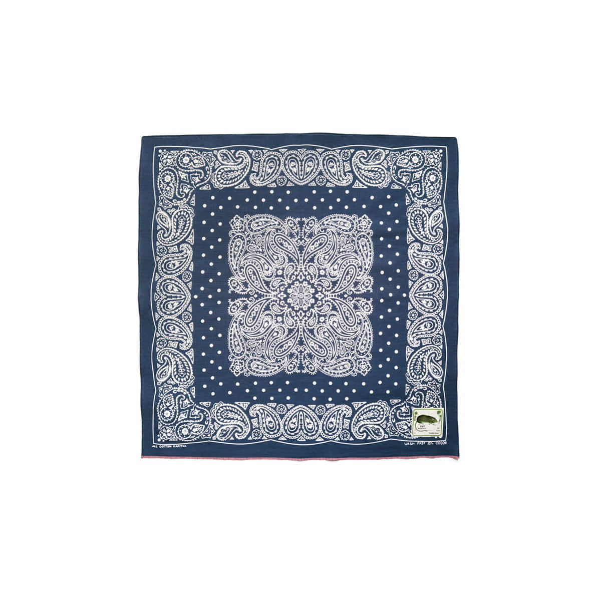 [KAPITAL] FASTCOLOR SELVEDGE BANDANA (TUNA DANCE) 'NAVY'