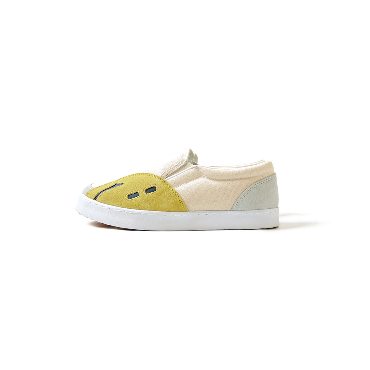 [KAPITAL] RAIN SMILE SLOP-ON SHOES 'ECRU'