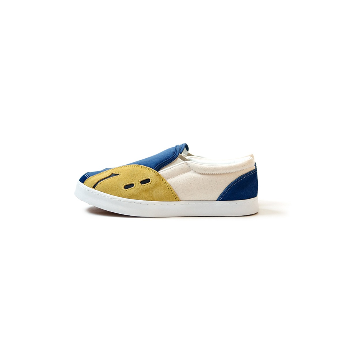 [KAPITAL] RAIN SMILE SLOP-ON SHOES 'ECRU x BLUE'