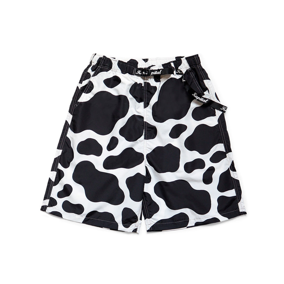 [KAPITAL] FAST-DRY TAFFETA COW EASY SHORTS 'WHITE'