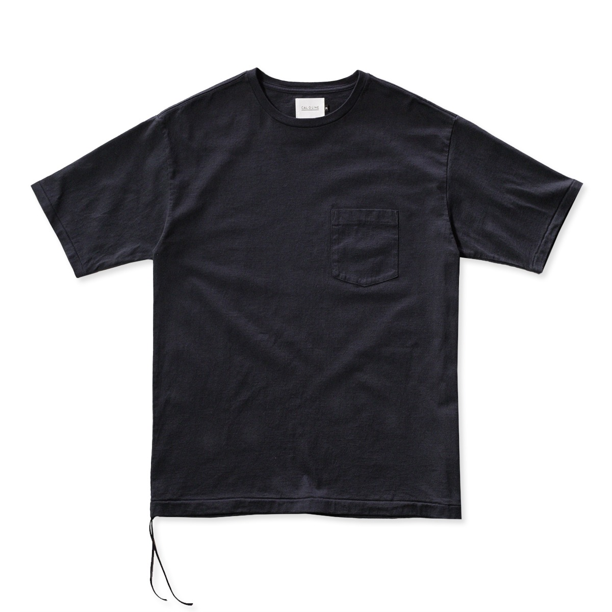 [CAL O LINE] SOLID COLOR POCKET S/S TEE 'BLACK'