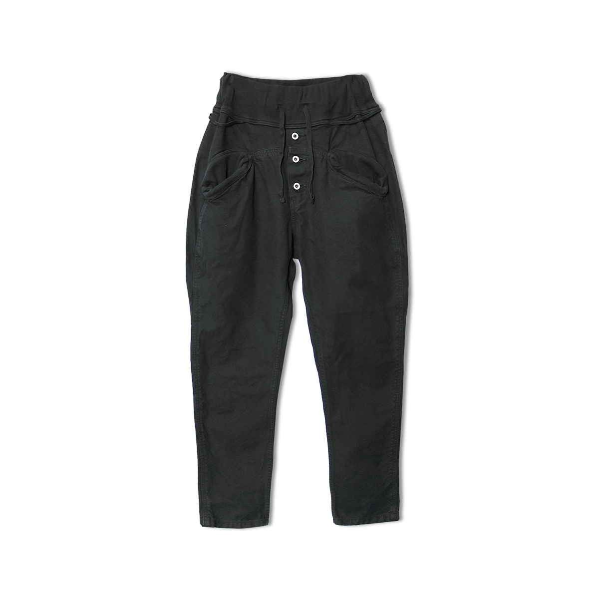 [KAPITAL] CANVAS SAROUEL NOUVELLE PANTS 'BLACK'