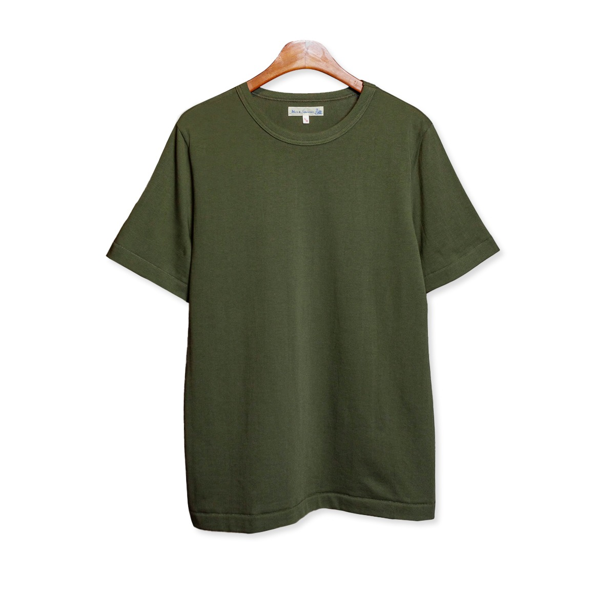 [Merz B. Schwanen] GOOD ORIGINALS MEN'S CREW NECK T-SHIRT 'ARMY'