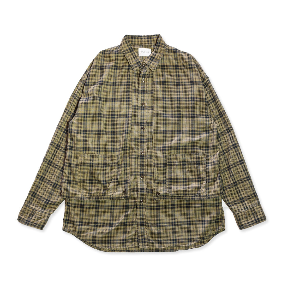 [CAL O LINE] DARK MADRAS PAINTER SHIRT 'NAVY'